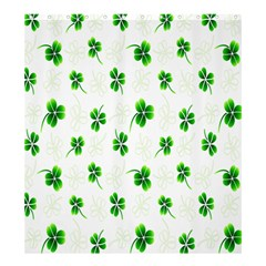 Leaf Green White Shower Curtain 66  x 72  (Large)