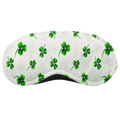 Leaf Green White Sleeping Masks
