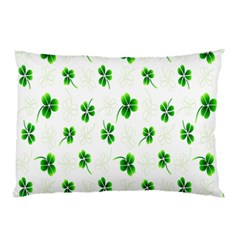 Leaf Green White Pillow Case (Two Sides)