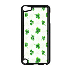 Leaf Green White Apple iPod Touch 5 Case (Black)