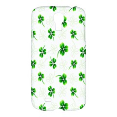 Leaf Green White Samsung Galaxy S4 I9500/I9505 Hardshell Case