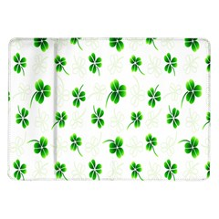 Leaf Green White Samsung Galaxy Tab 10.1  P7500 Flip Case