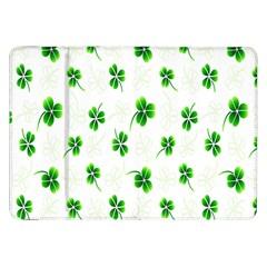 Leaf Green White Samsung Galaxy Tab 8.9  P7300 Flip Case
