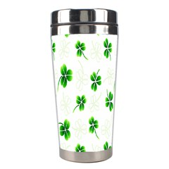 Leaf Green White Stainless Steel Travel Tumblers