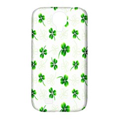 Leaf Green White Samsung Galaxy S4 Classic Hardshell Case (PC+Silicone)