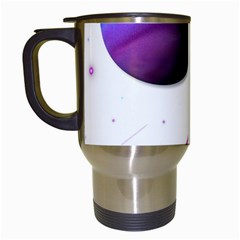 Space Transparent Purple Moon Star Travel Mugs (White)