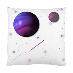 Space Transparent Purple Moon Star Standard Cushion Case (Two Sides)