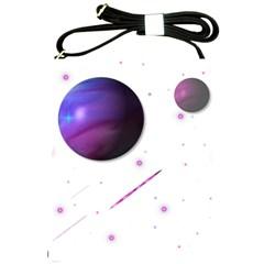 Space Transparent Purple Moon Star Shoulder Sling Bags