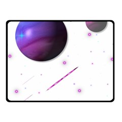 Space Transparent Purple Moon Star Fleece Blanket (Small)