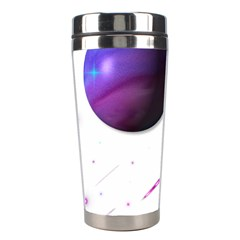 Space Transparent Purple Moon Star Stainless Steel Travel Tumblers