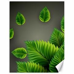 Leaf Green Grey Canvas 18  x 24