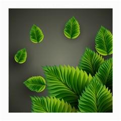 Leaf Green Grey Medium Glasses Cloth (2-Side)