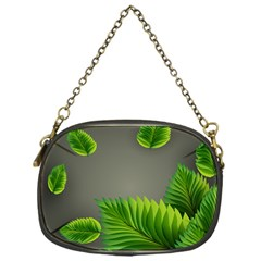 Leaf Green Grey Chain Purses (One Side)