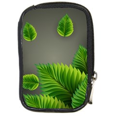 Leaf Green Grey Compact Camera Cases