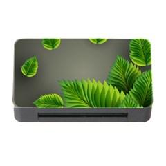Leaf Green Grey Memory Card Reader with CF