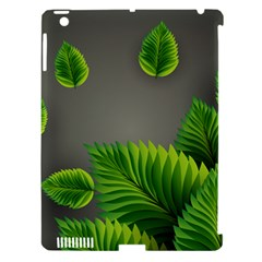 Leaf Green Grey Apple iPad 3/4 Hardshell Case (Compatible with Smart Cover)