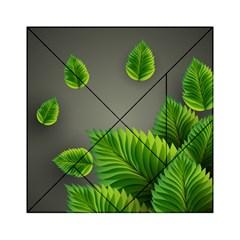 Leaf Green Grey Acrylic Tangram Puzzle (6  x 6 )