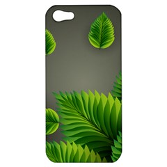 Leaf Green Grey Apple iPhone 5 Hardshell Case