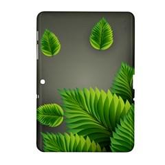 Leaf Green Grey Samsung Galaxy Tab 2 (10 1 ) P5100 Hardshell Case