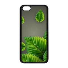Leaf Green Grey Apple iPhone 5C Seamless Case (Black)
