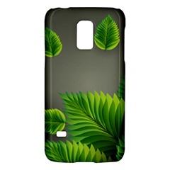 Leaf Green Grey Galaxy S5 Mini