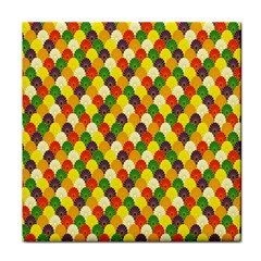 Flower Floral Sunflower Color Rainbow Yellow Purple Red Green Tile Coasters