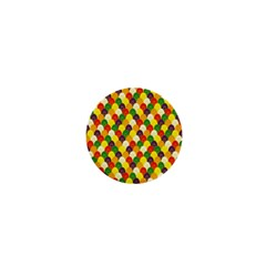 Flower Floral Sunflower Color Rainbow Yellow Purple Red Green 1  Mini Magnets