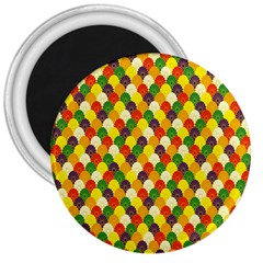 Flower Floral Sunflower Color Rainbow Yellow Purple Red Green 3  Magnets