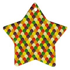 Flower Floral Sunflower Color Rainbow Yellow Purple Red Green Star Ornament (Two Sides)