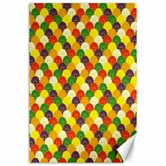 Flower Floral Sunflower Color Rainbow Yellow Purple Red Green Canvas 24  x 36