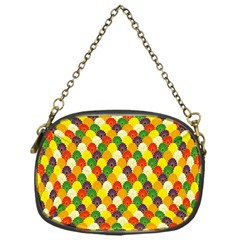 Flower Floral Sunflower Color Rainbow Yellow Purple Red Green Chain Purses (One Side)