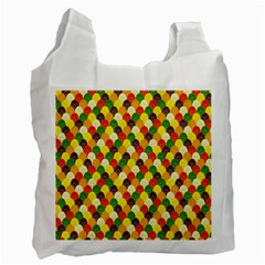 Flower Floral Sunflower Color Rainbow Yellow Purple Red Green Recycle Bag (Two Side)