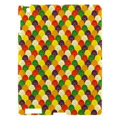 Flower Floral Sunflower Color Rainbow Yellow Purple Red Green Apple iPad 3/4 Hardshell Case