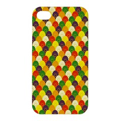 Flower Floral Sunflower Color Rainbow Yellow Purple Red Green Apple iPhone 4/4S Premium Hardshell Case