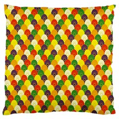 Flower Floral Sunflower Color Rainbow Yellow Purple Red Green Large Cushion Case (Two Sides)