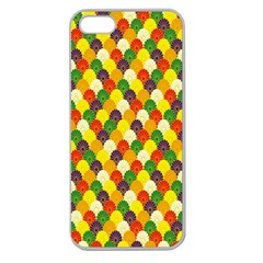 Flower Floral Sunflower Color Rainbow Yellow Purple Red Green Apple Seamless iPhone 5 Case (Clear)