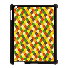 Flower Floral Sunflower Color Rainbow Yellow Purple Red Green Apple iPad 3/4 Case (Black)
