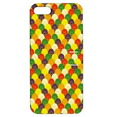 Flower Floral Sunflower Color Rainbow Yellow Purple Red Green Apple iPhone 5 Hardshell Case with Stand