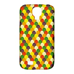 Flower Floral Sunflower Color Rainbow Yellow Purple Red Green Samsung Galaxy S4 Classic Hardshell Case (PC+Silicone)