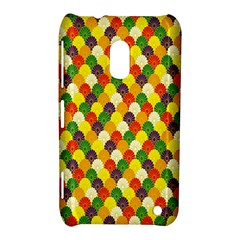 Flower Floral Sunflower Color Rainbow Yellow Purple Red Green Nokia Lumia 620