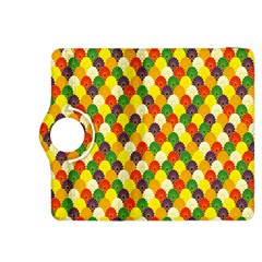 Flower Floral Sunflower Color Rainbow Yellow Purple Red Green Kindle Fire Hdx 8 9  Flip 360 Case