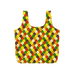 Flower Floral Sunflower Color Rainbow Yellow Purple Red Green Full Print Recycle Bags (S)