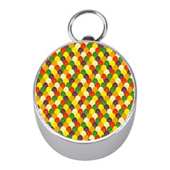 Flower Floral Sunflower Color Rainbow Yellow Purple Red Green Mini Silver Compasses