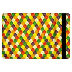 Flower Floral Sunflower Color Rainbow Yellow Purple Red Green iPad Air Flip