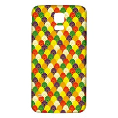 Flower Floral Sunflower Color Rainbow Yellow Purple Red Green Samsung Galaxy S5 Back Case (White)