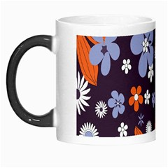 Bright Colorful Busy Large Retro Floral Flowers Pattern Wallpaper Background Morph Mugs