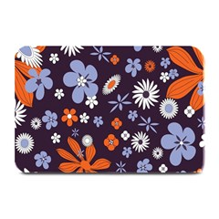 Bright Colorful Busy Large Retro Floral Flowers Pattern Wallpaper Background Plate Mats