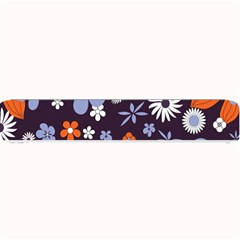 Bright Colorful Busy Large Retro Floral Flowers Pattern Wallpaper Background Small Bar Mats