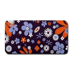 Bright Colorful Busy Large Retro Floral Flowers Pattern Wallpaper Background Medium Bar Mats
