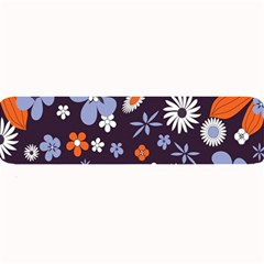 Bright Colorful Busy Large Retro Floral Flowers Pattern Wallpaper Background Large Bar Mats